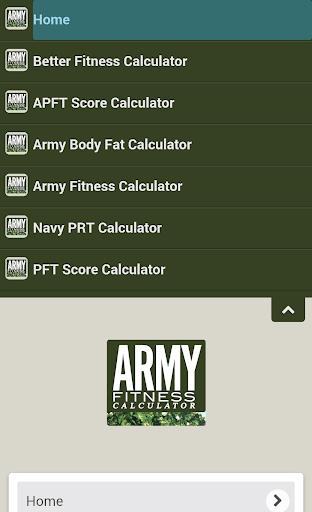 Army Body Fat Percentage Calculator