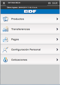 iBDF Móvil screenshot 1