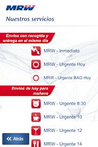 MRW Transporte Urgente screenshot 2