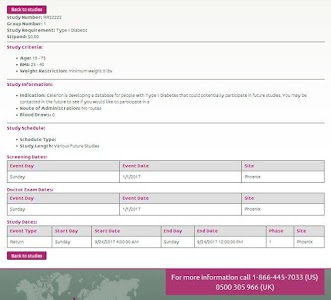 Celerion Clinical Studies screenshot 12