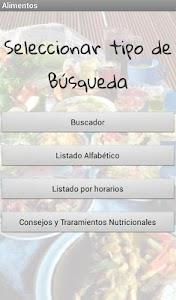 Alimentos screenshot 0