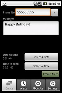 Textalert Free - SMS Reminder screenshot 1