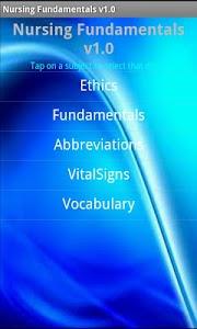 Nursing Fundamentals screenshot 0