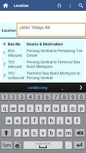 Penang Bus Info screenshot 3