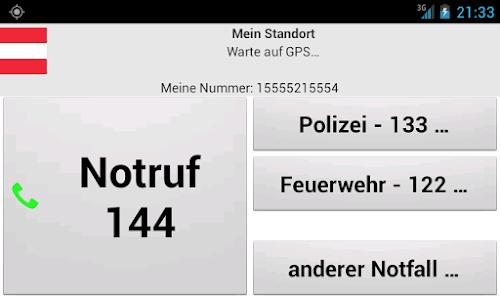 Mobile emergency call screenshot 3