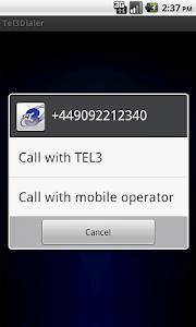 TEL3Dialer screenshot 2