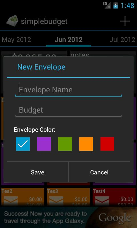 Monthly Budget App Android