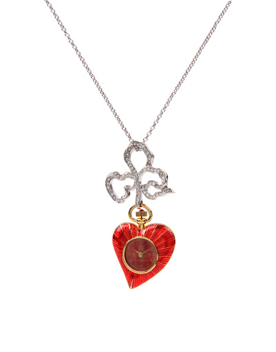 Vivienne Westwood Red Heart Watch Pendant