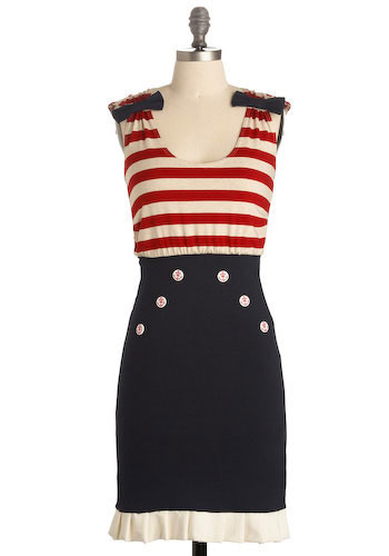 Sexy Nautical Dress by Modcloth