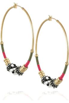 Designer Beaded hoop earrings by Juicy Couture