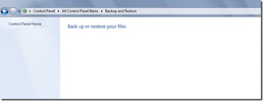 Empty Backup and Restore