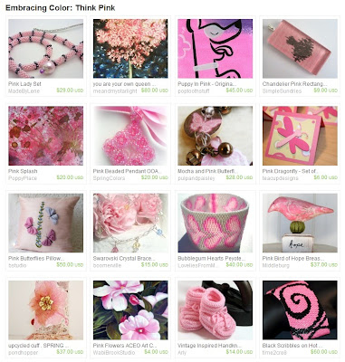Etsy Treasury: Think Pink