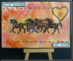 H for horses postcard