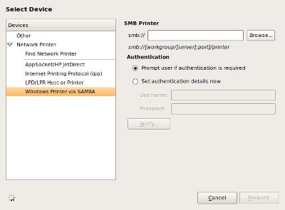 add samba printer