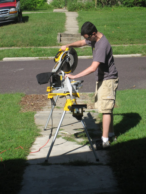 Miter saw, stand and trim