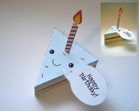 Birthday Cake Paper Toy Paperkraft Net Free Papercraft
