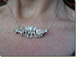 Sterling Silver Big 5 necklace Kruger National Park South Africa