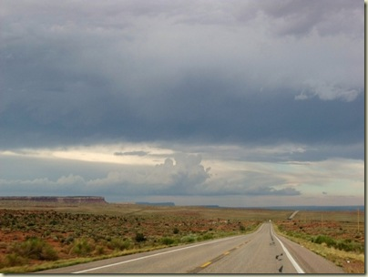 Storm building over Vermilion Cliffs Hwy 389 east Arizona