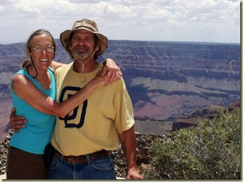 Gaelyn & Mike Cape Royal Walhalla Plateau North Rim Grand Canyon National Park Arizona