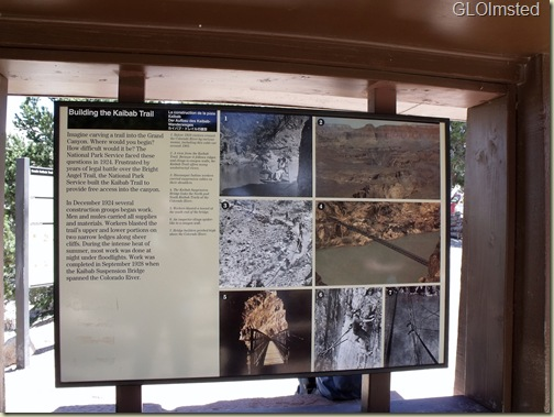 03 Building S Kaibab trail sign, training, SR GRCA NP AZ