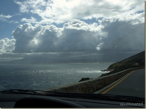 Rain clouds over False Bay R44 North Western Cape South Africa