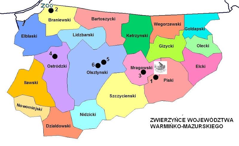 Zwierzyńce województwa warmińsko-mazurskiego