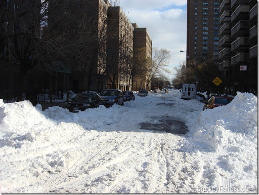 The roads are finally getting cleared.