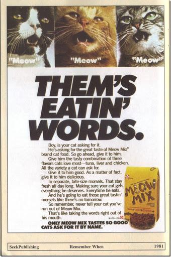 1981 Meow Mix Print Ad