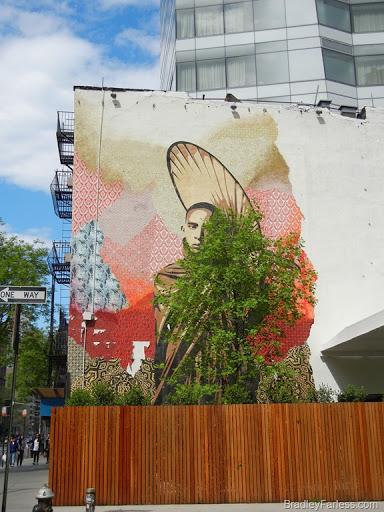 Wall mural at Cooper Square, Manhattan.