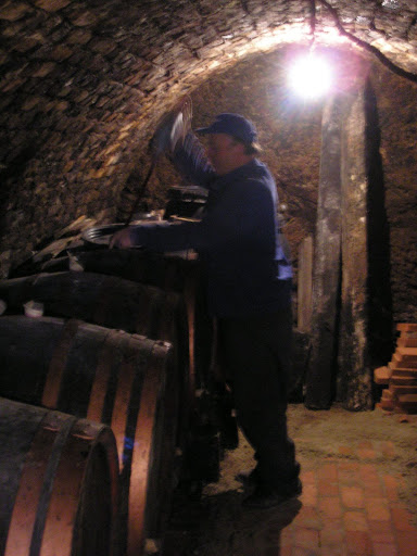 This is Istuan Hatuani, and he shouted at me as I was walking past, led me into his cellar, drank some wine with me and then gave me a little bit to take with me.