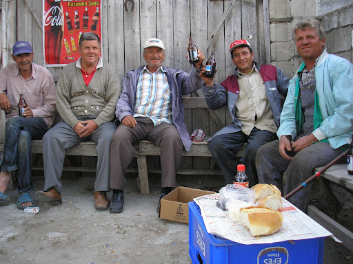 A friendly bunch of drinkers and the meal they bought me. People in Turkey dont drink very much in general.