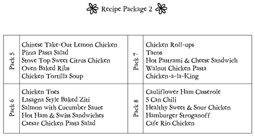 recipe package 2