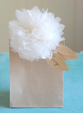 nice package blog wax paper flower