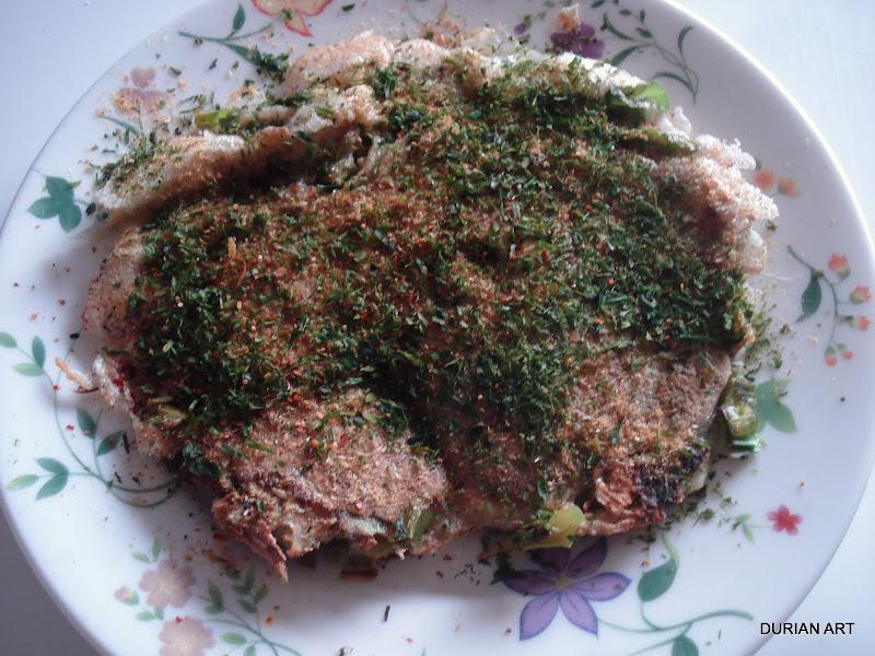 Negi-yaki... Home-style green okonomiyaki