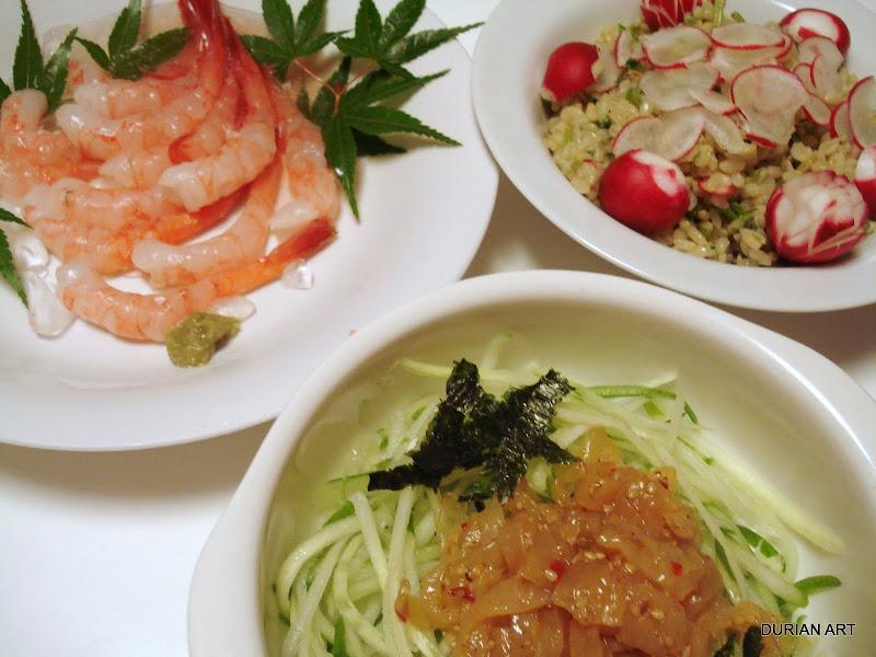 Ama ebi hokkaido sweet shrimps with radish sushi for Asian cuisine 08054