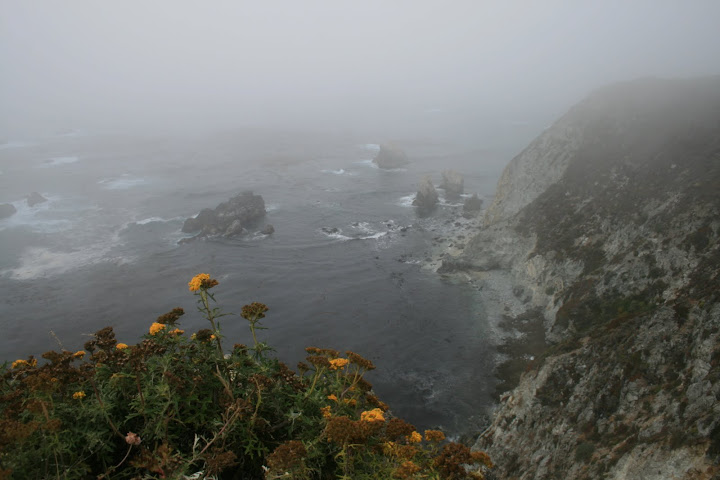 Big Sur  in fog...