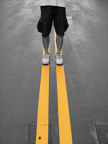 The Yellow Line On My Feet