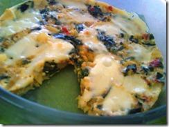 18  Tortilla de huevo con papitas y quelites guisados arriba le pones queso que gratine