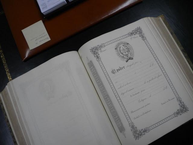 Libro-talonario de láminas de bastanteo del siglo XIX
