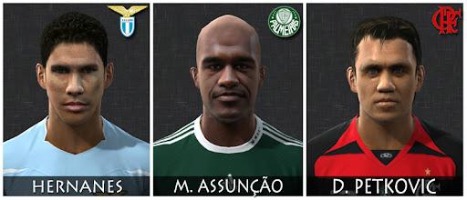 Face do Hernanes para PES 2010, Face do Marcos Assunção para PES 2010, Face do Petkovic para PES 2010