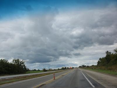 North towards Iowa on I-35.