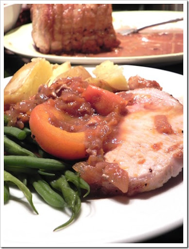 Pork with apricots