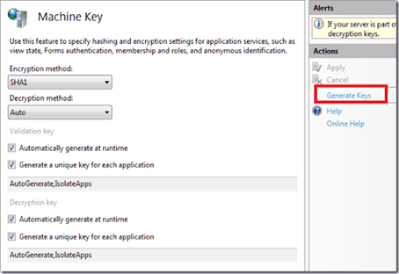 How to generate machine key in IIS 7 onwards ? - Daily  NET Tips