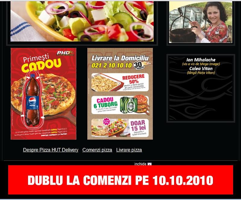 promotia de duminica pizza hut delivery