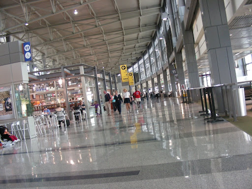 The Austin-Bergstrom International Airport served nearly 8.9 million passengers in 2007.  It was also the first facility in the nation to be converted from an Air Force base to a commercial airport.
