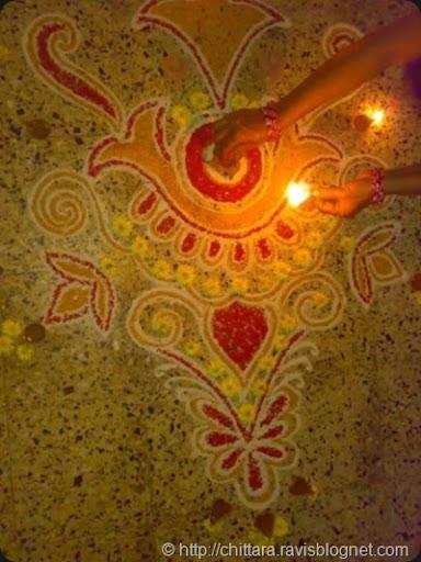 Tulsi Pooja Rangoli Chittara Rangoli Pattern Designs For