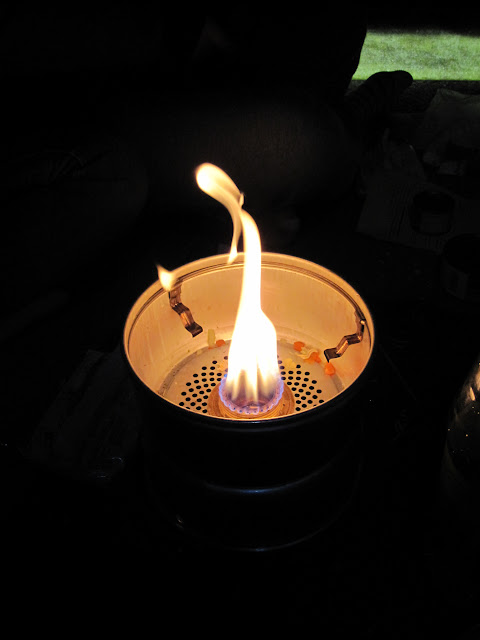 A fire on the Trangia