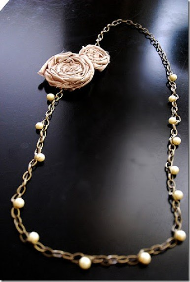 threaded rosette necklace