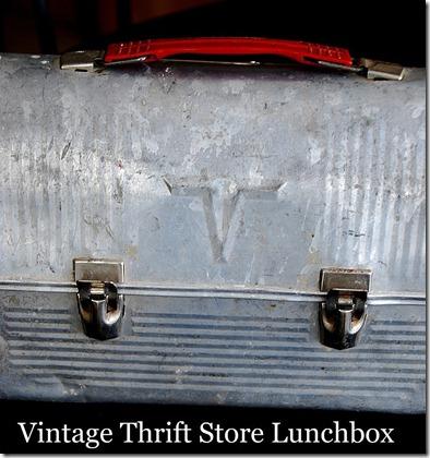 vintage thrift store lunchbox