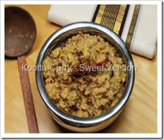 Koottu Curry - Sweet Version